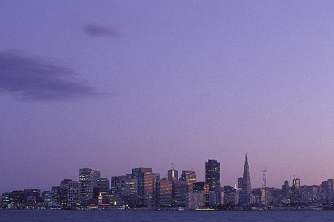 image 7-275-21 California, San Francisco, Skyline at dusk