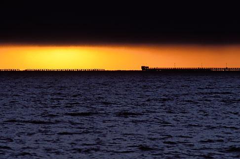 image 7-284-2 California, Berkeley, Berkeley Pier at sunset