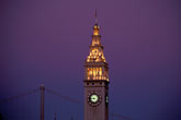 purple stock photography | California, San Francisco, Ferry Building and Bay Bridge tower, image id 8-422-22