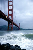 vertical stock photography | California, San Francisco, Golden Gate Bridge in storm, image id 8-68-31
