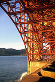 vertical stock photography | California, San Francisco, Fort Point and Golden Gate Bridge abutment, image id 8-720-63