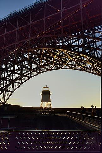 image 8-721-3 California, San Francisco, Fort Point beneath Golden Gate Bridge