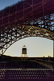 blue sky stock photography | California, San Francisco, Fort Point beneath Golden Gate Bridge, image id 8-721-3