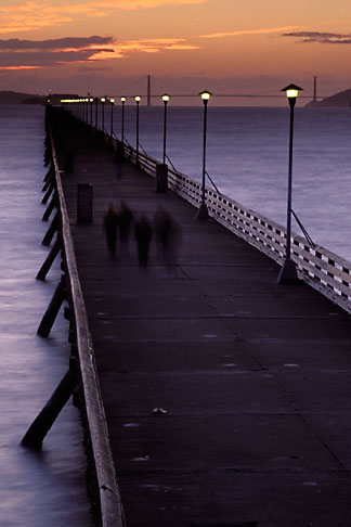 image 9-151-10 California, Berkeley, Berkeley Pier at dusk