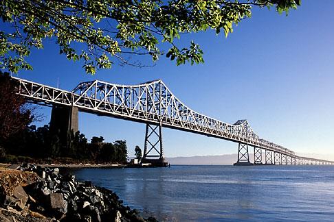 image 9-549-16 California, San Francisco Bay, Bay Bridge from Yerba Buena Island