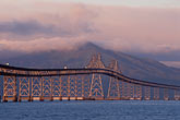 twilight stock photography | California, San Francisco Bay, Richmond-San Rafael Bridge, image id 9-590-11