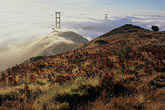 early morning mist stock photography | California, Marin County, Golden Gate Bridge from Marin Headlands, image id 9-593-2