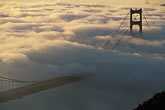 gold stock photography | California, San Francisco Bay, Golden Gate Bridge in fog, image id 9-593-27