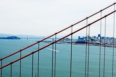 image S5-110-7263 California, San Francisco Bay, Golden Gate Bridge and San Francisco