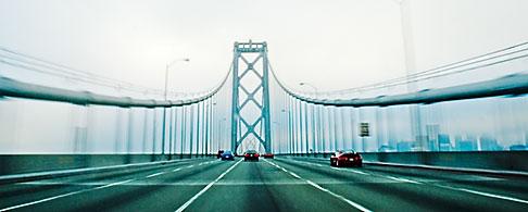 image S5-143-1006 California, Oakland, Driving across the Bay Bridge