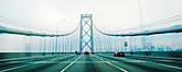 speed stock photography | California, Oakland, Driving across the Bay Bridge, image id S5-143-1006
