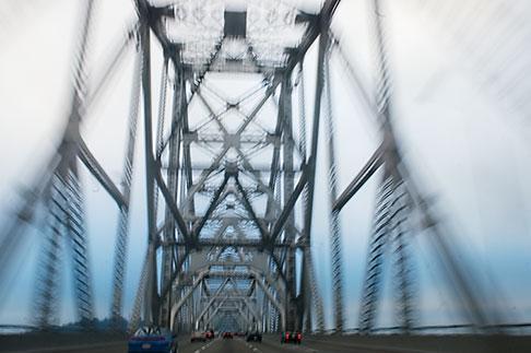 image S5-143-991 California, Oakland, Driving across the Bay Bridge