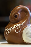 treat stock photography | Belgium, Bruges, Belgian chocolate duck, image id 8-740-1129
