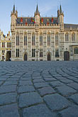 travel stock photography | Belgium, Bruges, City Hall on the Burg, or Town Hall Square, image id 8-740-1223