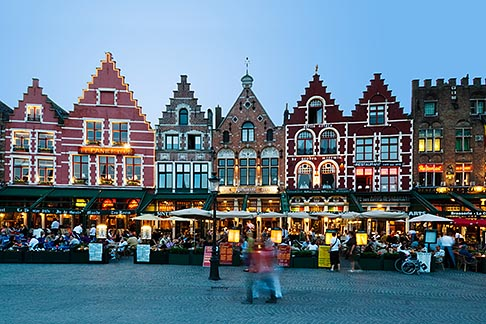 8-740-1234  stock photo of Belgium, Bruges, Market Square, Brugge Markt
