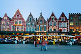 outdoor dining stock photography | Belgium, Bruges, Market Square, Brugge Markt, image id 8-740-1234
