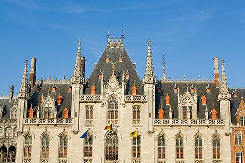image 8-740-785 Belgium, Bruges, Provincial Palace facade Market Square, Brugge Markt