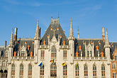 flemish stock photography | Belgium, Bruges, Provincial Palace facade Market Square, Brugge Markt, image id 8-740-785