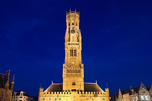 image 8-740-866 Belgium, Bruges, Belfry tower, night scene