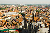 view of town from belfry tower stock photography | Belgium, Bruges, View of town from Belfry tower, image id 8-740-886