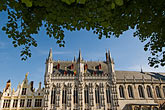 illuminated stock photography | Belgium, Bruges, City Hall, Burg Square, image id 8-741-2087