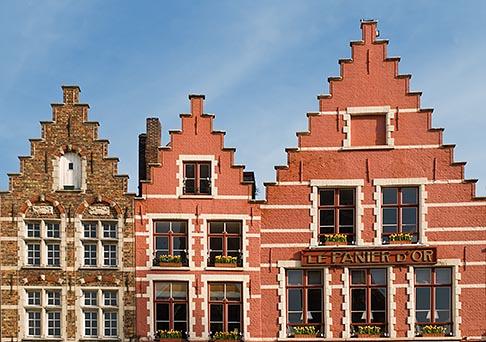 image 8-741-2158 Belgium, Bruges, Gabled houses, Market Square, Brugge Markt