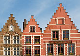 gabled houses stock photography | Belgium, Bruges, Gabled houses, Market Square, Brugge Markt, image id 8-741-2158