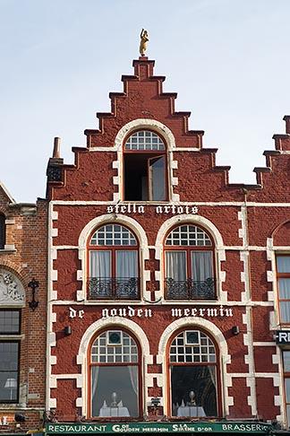 image 8-741-2160 Belgium, Bruges, Gabled house Market Square, Brugge Markt