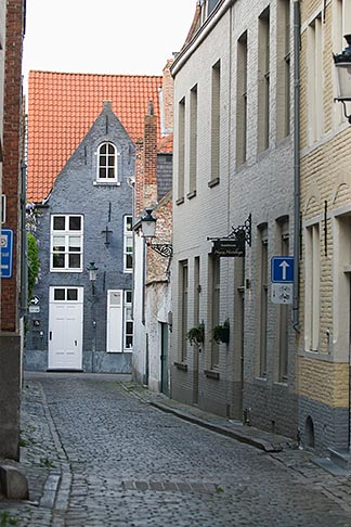 image 8-741-2242 Belgium, Bruges, Narrow street with houses