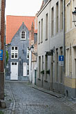 narrow street stock photography | Belgium, Bruges, Narrow street with houses, image id 8-741-2242