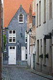 narrow stock photography | Belgium, Bruges, Narrow street with houses, image id 8-741-2245
