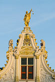 vertical stock photography | Belgium, Bruges, City Hall, architectural detail, image id 8-741-2248