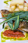 vertical stock photography | Belgium, Ghent, Fish and pesto, image id 8-742-1746