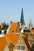 red tile stock photography | Belgium, Ghent, Red tile roofed houses, image id 8-742-1932