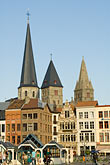 belgium stock photography | Belgium, Ghent, Church towers, image id 8-742-1986