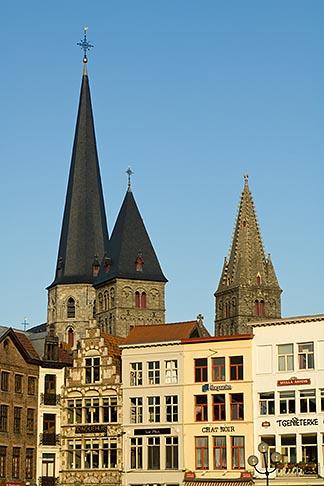 image 8-742-1988 Belgium, Ghent, Church towers
