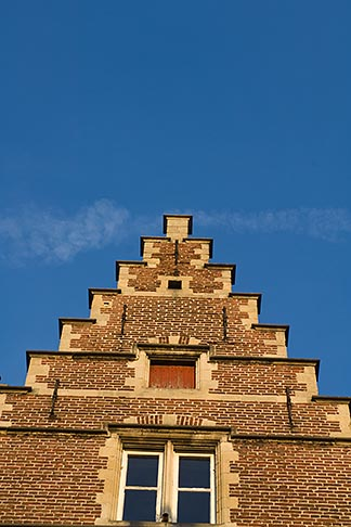 image 8-742-2046 Belgium, Ghent, Gabled house rooftop