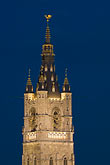 belgium stock photography | Belgium, Ghent, Belfry at night, image id 8-742-2096