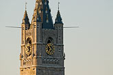 watchtower stock photography | Belgium, Ghent, Belfry tower closeup, image id 8-743-2327