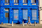 flemish stock photography | Belgium, Ghent, Colorful blue houses, image id 8-743-2475