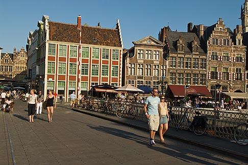 image 8-743-2485 Belgium, Ghent, Bridge over Graslei Canal