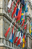 flemish stock photography | Belgium, Antwerp, International flags on Town Hall, Stadhuis, , image id 8-744-2199
