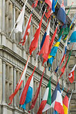 flemish stock photography | Belgium, Antwerp, International flags on Town Hall, Stadhuis, , image id 8-744-2200