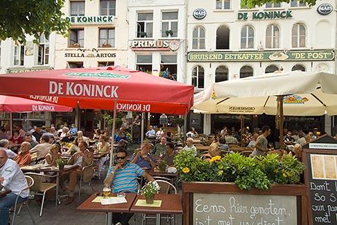 image 8-744-2474 Belgium, Antwerp, Outdoor Cafe, Grote Markt