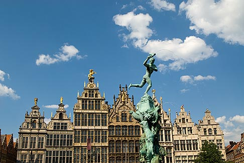 image 8-745-2548 Belgium, Antwerp, Grote Markt, Guild houses and Brabo Statue