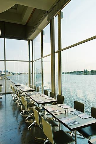 image 8-745-2584 Belgium, Antwerp, Zuiderterras restaurant overlooking the River Schelde