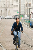 antwerp stock photography | Belgium, Antwerp, Bicyclist, image id 8-745-2831