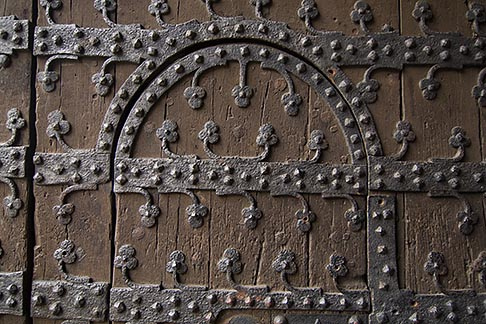 image 8-746-2706 Belgium, Brussels, Town Hall, Grand Place, decorated door