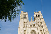 the cathedral stock photography | Belgium, Brussels, Cathedral of St. Michael and St. Gudula, image id 8-746-2885