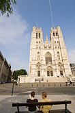the cathedral stock photography | Belgium, Brussels, Cathedral of St. Michael and St. Gudula, image id 8-746-2888